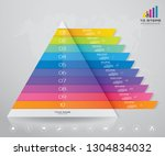 10 steps pyramid with free... | Shutterstock .eps vector #1304834032