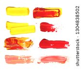 yellow  red color. set... | Shutterstock . vector #1304838502