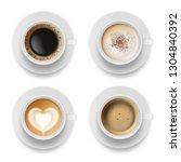 coffee cup top. hot milk... | Shutterstock .eps vector #1304840392