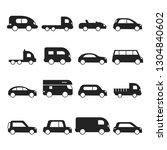 car silhouettes icon. type of... | Shutterstock .eps vector #1304840602