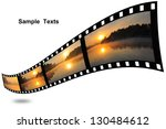 sunset photo with film strip... | Shutterstock . vector #130484612