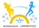 weight loss. the influence of... | Shutterstock .eps vector #1304851525