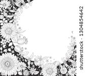 floral ditsy circle pattern...   Shutterstock .eps vector #1304854642