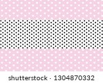 vector background with hearts... | Shutterstock .eps vector #1304870332