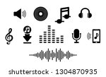 set music icon in flat. for... | Shutterstock .eps vector #1304870935