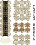 set of laced scrap elements | Shutterstock .eps vector #130488245