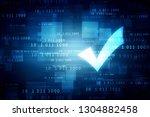 2d illustration checkbox tick | Shutterstock . vector #1304882458