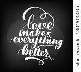 chalkboard blackboard lettering....   Shutterstock . vector #1304900005