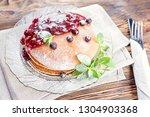 delicious and healthy breakfast ... | Shutterstock . vector #1304903368