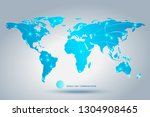 world map and communications... | Shutterstock .eps vector #1304908465