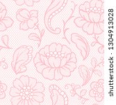 seamless lace pattern with... | Shutterstock .eps vector #1304913028