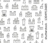 seamless pattern with castles....   Shutterstock .eps vector #1304913685
