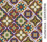 mexican talavera ceramic tile... | Shutterstock .eps vector #1304920948