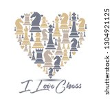 print with chess pieces of...   Shutterstock .eps vector #1304921125