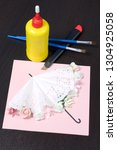 making greeting card from paper ... | Shutterstock . vector #1304925058
