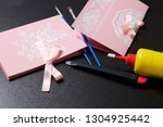 making greeting cards from... | Shutterstock . vector #1304925442