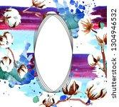 cotton floral botanical flower. ... | Shutterstock . vector #1304946532