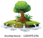 illustration of a big tree in...