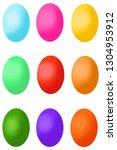 set of easter eggs   Shutterstock . vector #1304953912