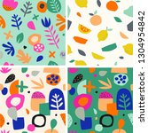 colorful seamless pattern in... | Shutterstock .eps vector #1304954842