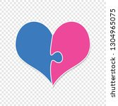 pink and blue heart assembled...   Shutterstock .eps vector #1304965075