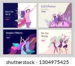 web page design template for... | Shutterstock .eps vector #1304975425