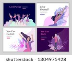 web page design template for... | Shutterstock .eps vector #1304975428