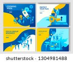 set landing page template... | Shutterstock .eps vector #1304981488