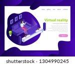 effective website template...   Shutterstock .eps vector #1304990245