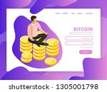effective website template...   Shutterstock .eps vector #1305001798