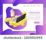 effective website template...   Shutterstock .eps vector #1305002995