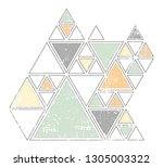 vintage triangle background | Shutterstock .eps vector #1305003322
