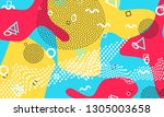 pop art color background.... | Shutterstock .eps vector #1305003658