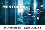 business mentoring. personal... | Shutterstock . vector #1305008155
