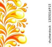 abstract juice drop bubble... | Shutterstock .eps vector #1305016915
