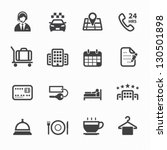 hotel and hotel services icons... | Shutterstock .eps vector #130501898