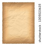 old paper with burnt edges... | Shutterstock .eps vector #1305023635