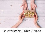 happy women's day. little child ... | Shutterstock . vector #1305024865