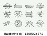 set of vintage carpentry ... | Shutterstock .eps vector #1305026872