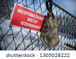 no trespassing danger   Shutterstock . vector #1305028222