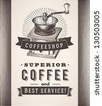 vintage coffee background | Shutterstock .eps vector #130503005