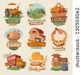 retro farm emblems | Shutterstock .eps vector #130503062