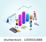 business consulting team....   Shutterstock .eps vector #1305031888