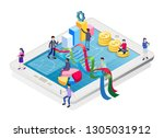finance and commercial...   Shutterstock .eps vector #1305031912