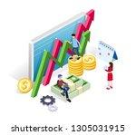 digital marketing strategy...   Shutterstock .eps vector #1305031915