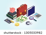 business portfolio  money ...   Shutterstock .eps vector #1305033982