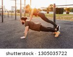 side view   a strong and...   Shutterstock . vector #1305035722