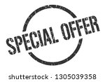 special offer black round stamp | Shutterstock .eps vector #1305039358