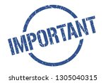 important blue round stamp | Shutterstock .eps vector #1305040315