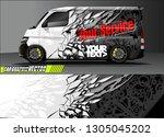 van livery design vector.... | Shutterstock .eps vector #1305045202